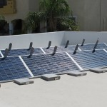 ballasted solar panel racking