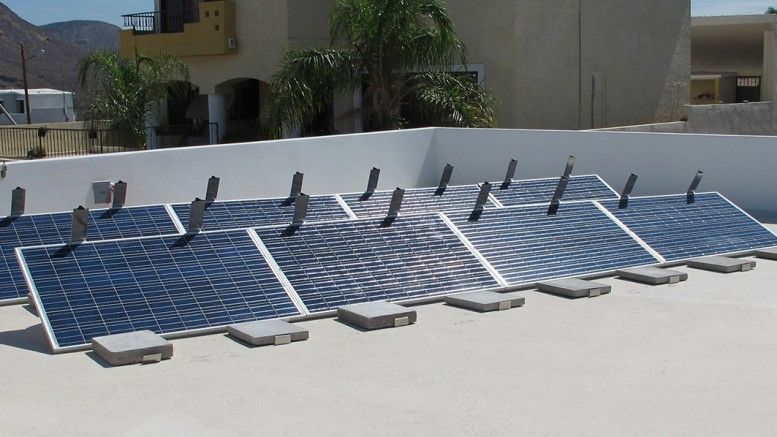 ballasted solar panel racking